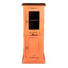 CC-CAB513TLD-CRRW  Glass Door Storage Cabinet  Coral/ Raftwood