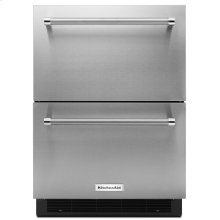 "24"" Stainless Steel Double Refrigerator Drawer"