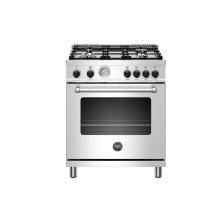 "30"" Master Series range - Gas oven - 4 aluminum burners - Black knobs - LP version"