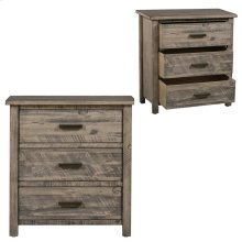 Hawthorne Estate 3 Drawer Wood Chest Distressed Grey Finish