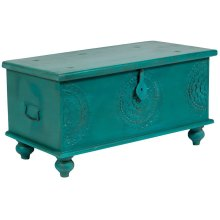 Leelo Coffee Table Trunk, Teal, CAR-TR-T