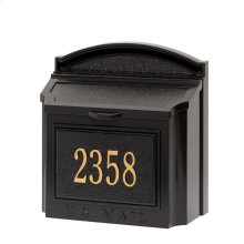 Wall Mailbox Package - Black/Gold