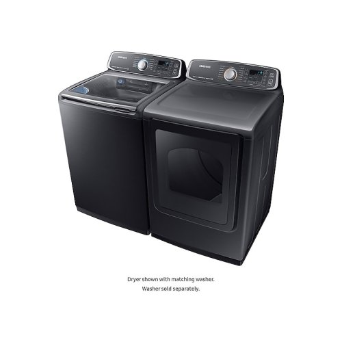 7.4 cu. ft. Gas Dryer in Black Stainless Steel