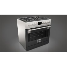 "36"" All Gas Pro Range - Glossy Black"