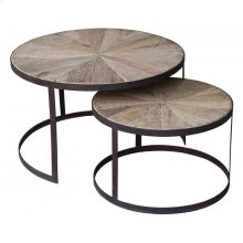 Round Occasional Table Set