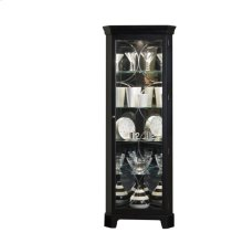 Lighted 4 Shelf Corner Curio Cabinet in Oxford Black