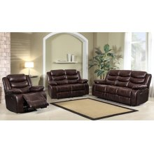 8055 Air Leather Brown Loveseat