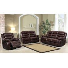 8055 Air Leather Brown Sofa