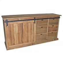 Sliding Door Pine Buffet
