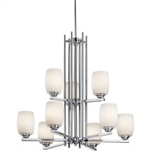 Eileen 9 Light Chandelier Chrome