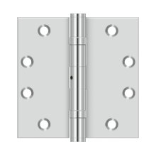 "4 1/2""x 4 1/2"" Square Hinge - Polished Stainless"