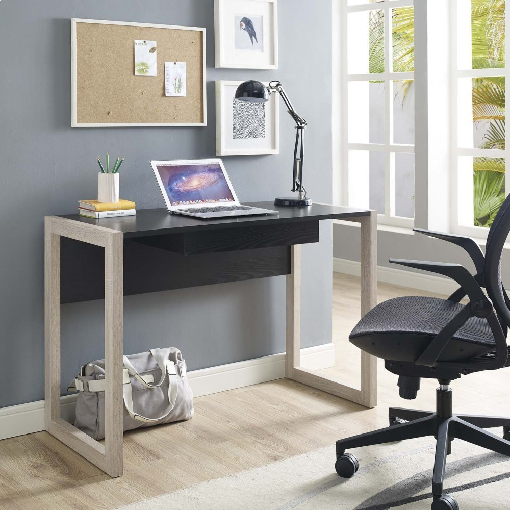 Become Wood Writing Desk in Natural Black
