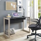 Become Wood Writing Desk in Natural Black Product Image