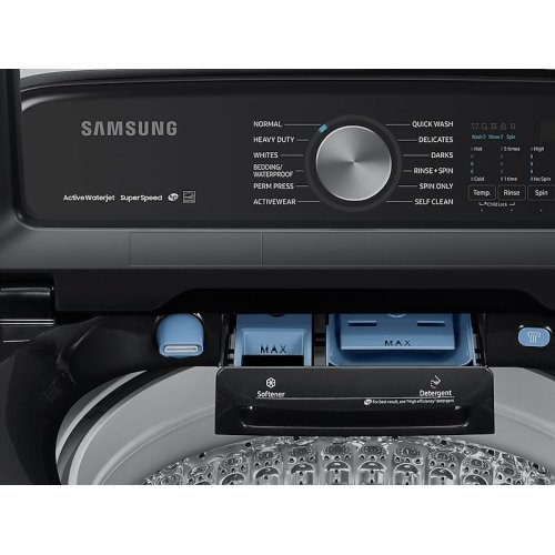 5.0 cu. ft. Top Load Washer with Super Speed in Black Stainless Steel