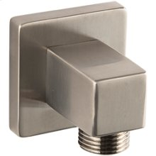 SQU Shower Outlet Elbow - Brushed Nickel