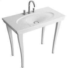 Washbasin legs - White Brilliant Glaze