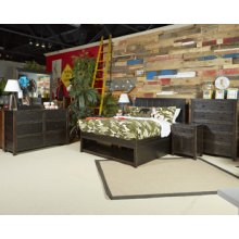 Jaysom Panel Bed Full Black Collection