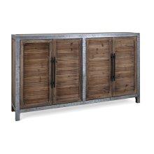 Gertrude Wood and Metal Sideboard