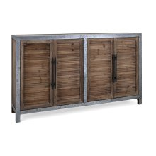 Gertrude Wood and Metal Sideboard