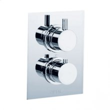 Techno - Thermostatic Control Valve Trim - Polished Chrome