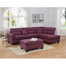 F6587 / Cat.19.p9- 3PCS SECTIONAL WARM PURPLE