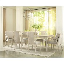 Lilly - Upholstered Hostess Chair - Champagne Finish