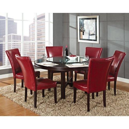 "Hartford Bonded Chair, Red 20"" x 28"" x 41"" (1""Memory Foam)"