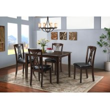 DAM1005DS  Table and 4 Chairs - Amanda