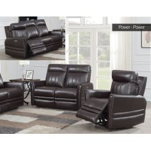 "Coachella Recliner Sofa Brown Pwr/Pwr 79.5""x38.5""x41"""