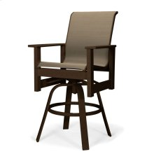 Leeward MGP Sling Balcony Height Swivel Arm Chair