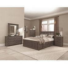4-Drawer Panel Captains Bed - Queen
