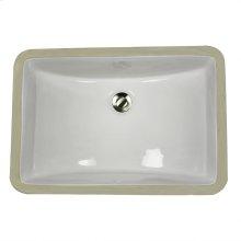 18 Inch X 12 Inch Undermount Ceramic Sink In White
