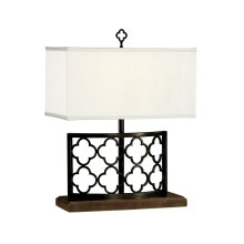 Bronzed Gothic Trellis Table Lamp