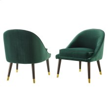 "Avalon Velvet Accent Chair Green 24.5""x27""x30"" [1pc/ctn]"