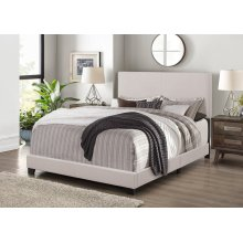 7552 Linen Fabric Bed Frame - Full