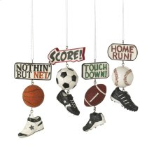 Sport Score Dangle Ornament (4 asstd)