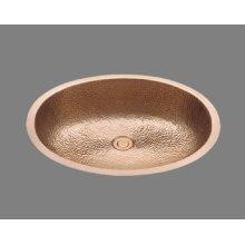 B1417 - Lavatory - Hammertone Pattern - Antique Brass