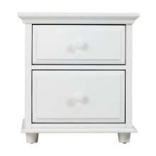 2 Drawer Dresser w/ Crown & Base : : White :