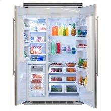 """Marvel Professional Built-In 48"""" Side-by-Side Refrigerator Freezer - Marvel Professional Built-In 48"""" Side-by-Side Refrigerator Freezer - Stainless Steel Doors, Slim Designer Handles"""