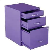"""22"""" Pencil, Box, Storage File Cabinet In Purple Finish"""