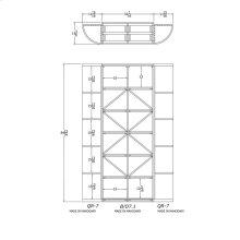 Apex 7' Mahogany Wine Rack Kit (QR-7, B/D7.1, QR-7) - READY TO SHIP