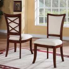 Windward Bay - Xx-back Upholstered Side Chair - Warm Rum Finish