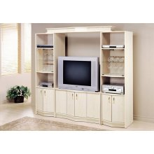 """TV STAND - WASHED OAK HOME THEATER TV STAND / 36""""TV"""