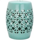 Robins Egg Blue Circle Lattice Garden Stool - Robins Egg Blue Product Image