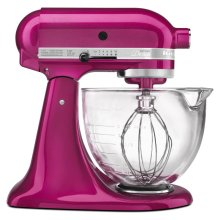 Artisan® Design Series 5 Quart Tilt-Head Stand Mixer with Glass Bowl - Rasberry Ice