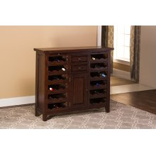 Tuscan Retreat® Wine Console - Rustic Mahogany