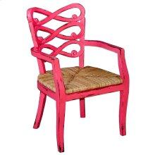 Lewis Arm Chair rush Seat