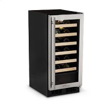 """15"""" High Efficiency Single Zone Wine Cellar - Stainless Frame Glass Door - Left Hinge - Factory New Sealed Carton"""