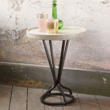 "Juno Accent Table White 18""x18""x22"""