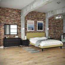 Bethany 5 Piece Queen Bedroom Set in Black Green